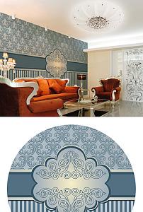 欧式背景墙图片设计模版下载