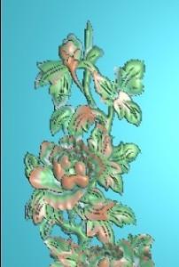欧式洋花浮雕图图片设计模版下载